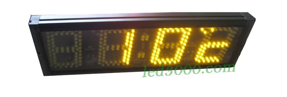 5 인치 abmber 색깔 다기능 시간 및 온도는 시계를지도했습니다 (HST4-5A)