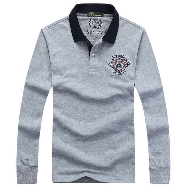 2016 новое прибытие мужская марка нагрудные с длинными рукавами рубашки поло мужской хлопок рубашки поло большой размер poloshirt