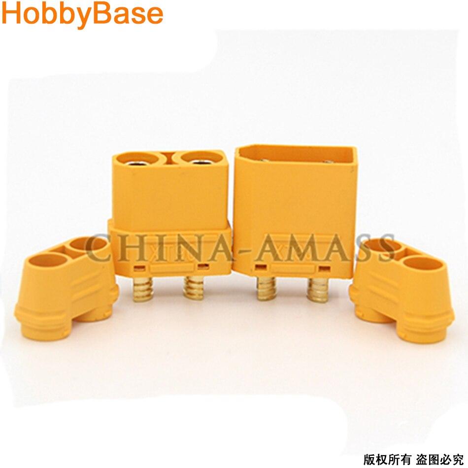 Amass XT90+ XT90 Plus Battery Connector Plug Set Male Female