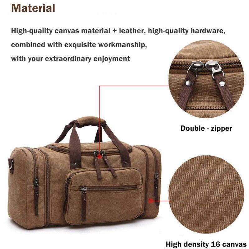 Suave hombres de la lona bolsas de viaje llevar equipaje hombres ...