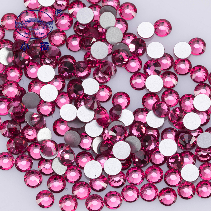 Round Glass Rhinestones For Shoes And Bags 3d DIY Crystal Rhinestones Decoration Non Hotfix Flatback Rhinestones Z195 in Rhinestones Decorations from Beauty Health