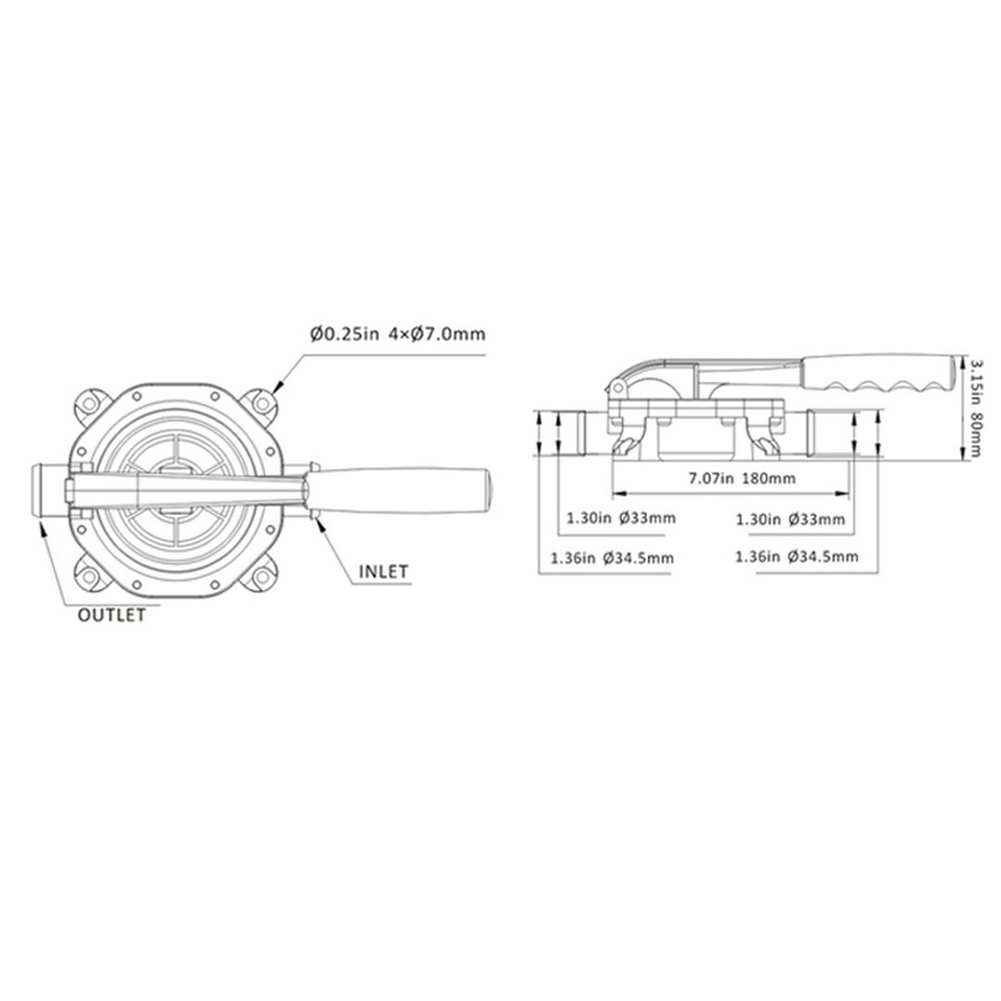 Multifunction boat marine 720gph plastic manual bilge hand diaphragm multifunction boat marine 720gph plastic manual bilge hand diaphragm pump aluminium handle in pumps from home improvement on aliexpress alibaba group ccuart Choice Image