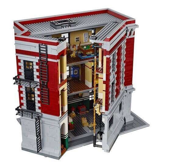 Toys CHINA BRAND L6001 self-locking bricks Compatible with Lego Ghostbusters 75827 Firehouse Headquarters no original box toys for children china brand 355 self locking bricks compatible with lego technic rescue helicopter 8068 no original box