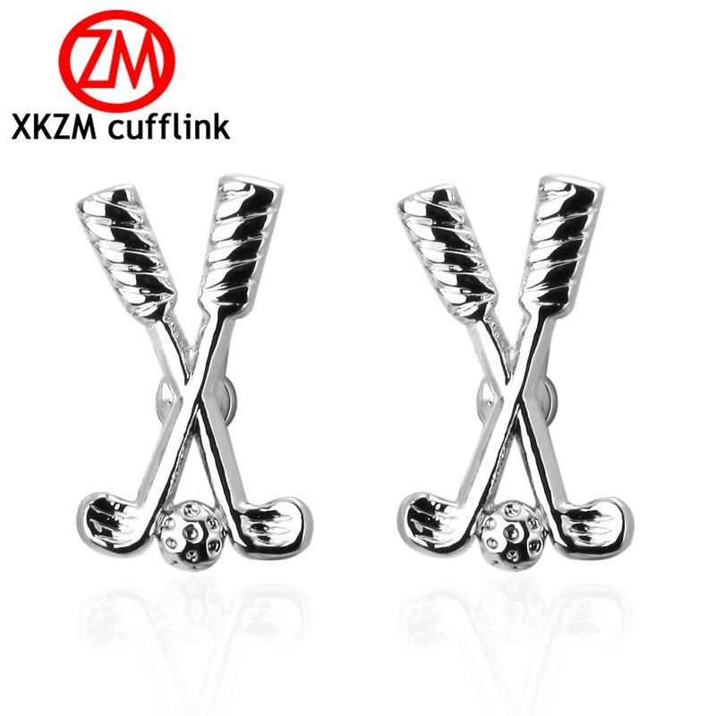 Luxury Men Silver Golf Cufflinks High Quality Lawyer Groom Wedding Cufflinks For Mens Shirt Cuff Links French Jewelry