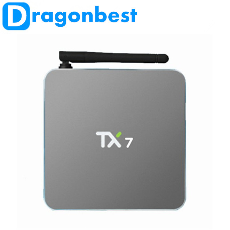 New TX7 Android 6.0 Amlogic S905X Quad core Set top box 2G/32G Android TV Box HDMI H.265 Dual WIFI Media Player Smart tv box askent s 7 1 tx