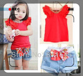 Casual Summer Girl's Fashion Jeans Suit Set T-Shirt Kids Pants Conjunto Infantil Baby Clothing Outerwear Clothes Children's Wear