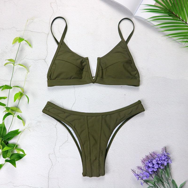 HTB1lCzAX0jvK1RjSspiq6AEqXXaV Sexy Bandeau Bikinis 2019 New V Neck Bikini Swimsuits Push Up Swimwear Female Brazilian Bikini Set Bathing Suits Biquini 3418