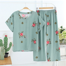 New Arrival Female Pajamas Set Sleepwear Women Cotton Linen
