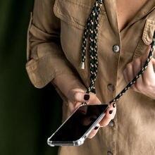 Роскошный прозрачный чехол для телефона с ремешком через плечо