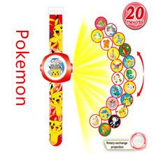 2019 New 3D Projection pooch Patrals Watch Toy Digital Children Watches Boys Girls LED Display Kids Clock Spiderman Child Watch