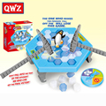 QWZ Funny Ice Breaking Save Penguin Game Kids Desktop Penguin Trap Knock Ice Block Toy Kids Early Educational Toys for Gifts