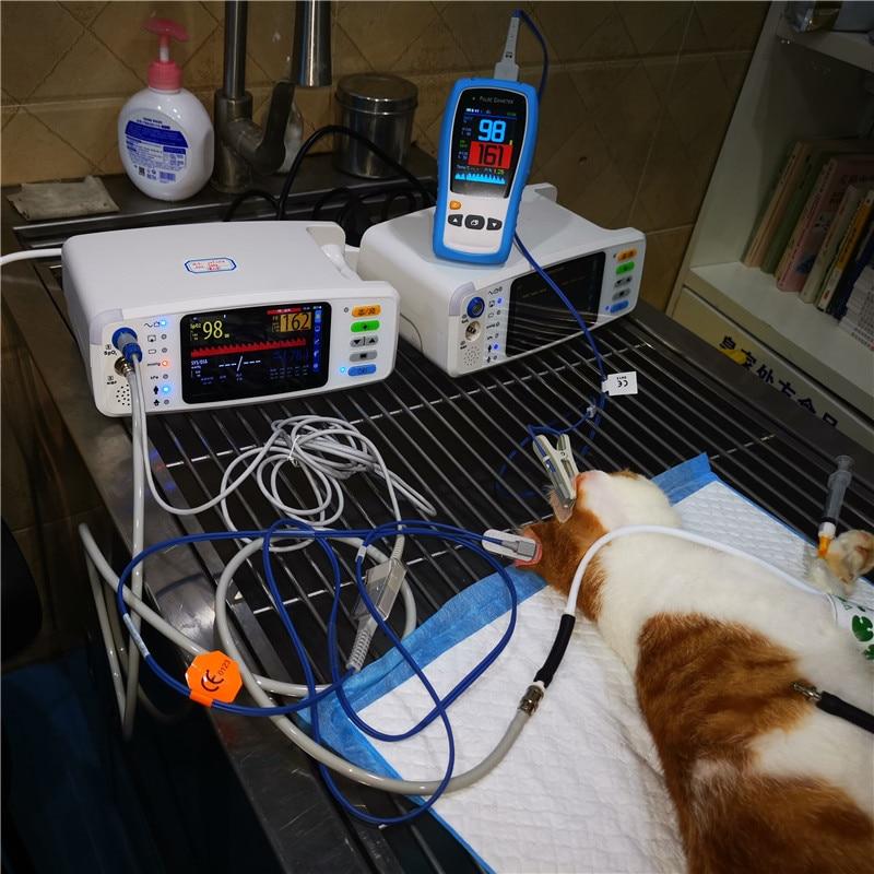 2.8 TFT LCD Veterinary handheld pulse oximeter SPO2 PR  home heart Rate monitor Pulsioximetro CE with optional  Temp probe