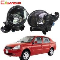 Cawanerl For Nissan Platina 2002 2003 2004 2005 2006 2007 2008 2009 2010 Car Fog Light Lampshade + H8 H11 LED / Halogen Bulb 12V