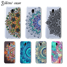 For Samsung Galaxy J3 J5 J7 2017 J330 J530 J730 case Beautiful mandala flower soft TPU cover transparent silicone phone capa