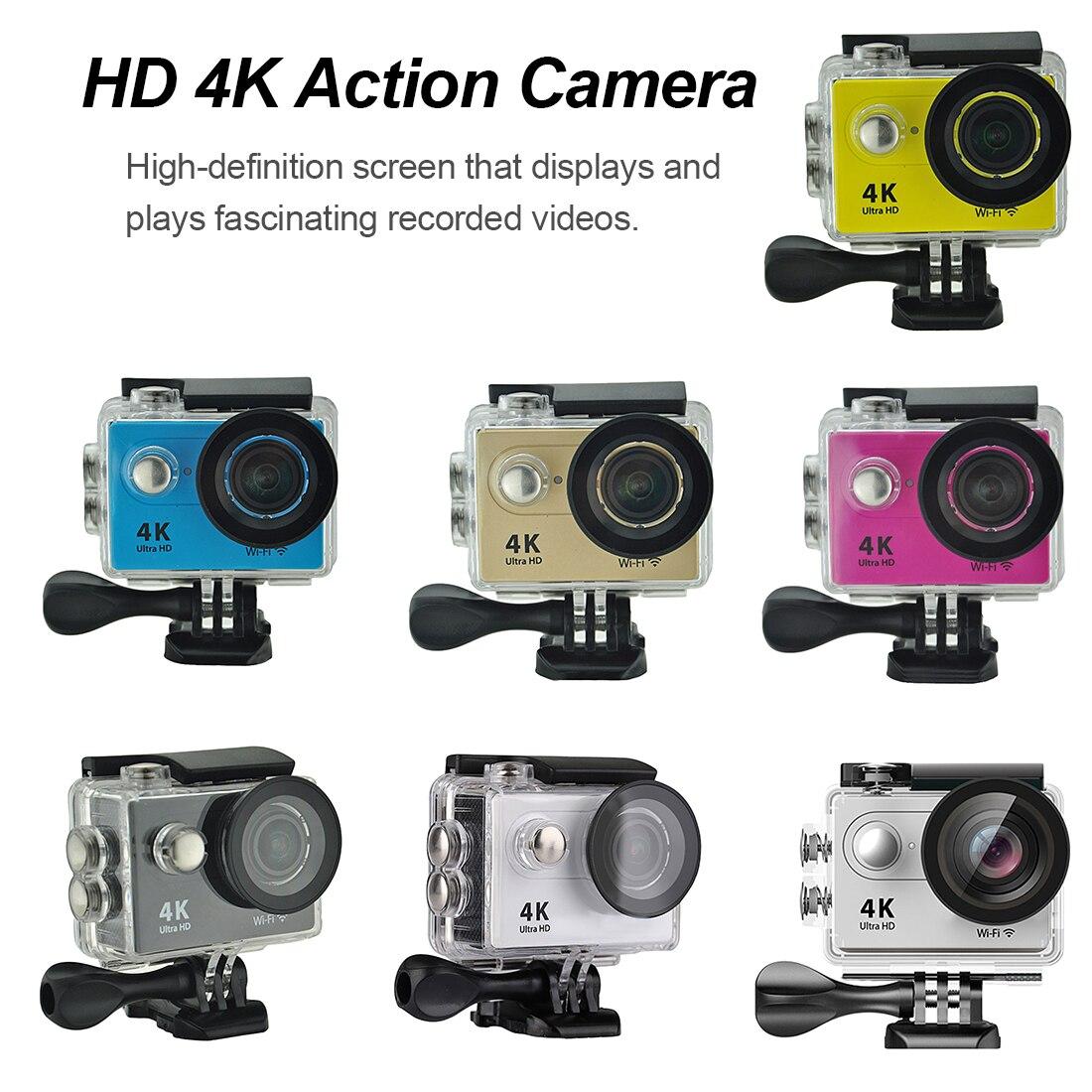 Caméra d'action professionnelle H9R Ultra HD 4 K 30 m étanche 2.0 'écran 1080 p caméra sport go extreme pro cam