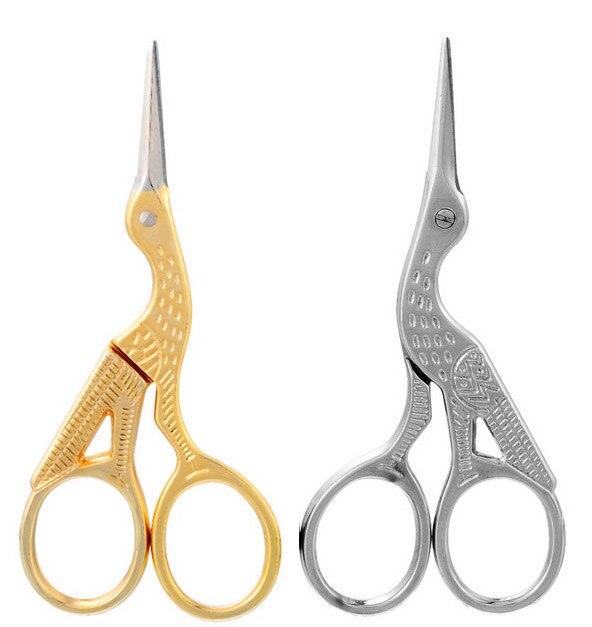 ZAKKA cross stitch European Retro classic Vintage Antique Craft Gold Sewing Crane Tailor scissor handicraft DIY Home Tool|scissors tools|crane scissorscross scissors - AliExpress