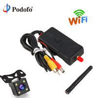 Podofo 903W 2.4G 30fps Realtime Video WIFI Transmitter For FPV Aerial Photography Car Backup Camera AV/DC/Aerial Interface