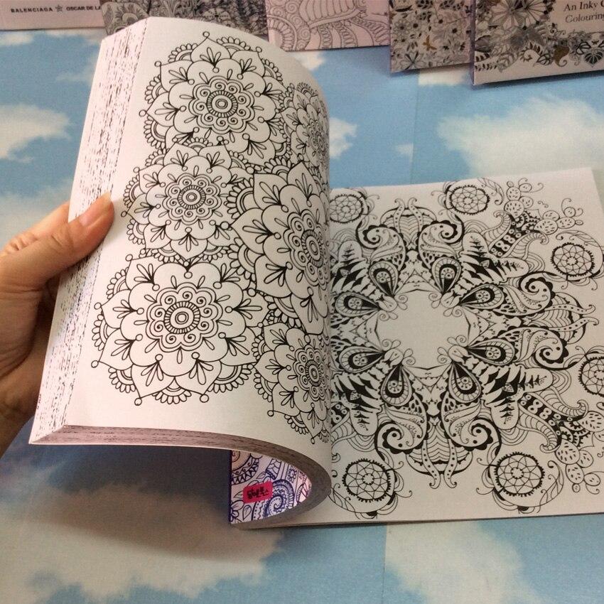Mandalas Coloring Books For Adults Kids Relieve Stress Graffiti Painting Secret Garden Art Coloring Books