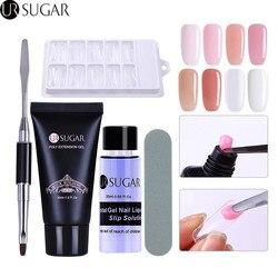 UR AÇÚCAR 5 Pcs Poli Conjunto de Unhas de Gel UV Construtor Gel Extensão de Cristal Geléia De Construção Rápida Solução de Deslizamento Prego Manicure kit Nail Art