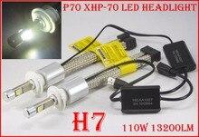 1 Set H4 H7 H8 H9 H11 9005 9006 9012 H13 9004 9007 P70 HA CONDOTTO il Faro 110 W 13200LM Fanless XHP-70 Chip 5 K 6 K Lampada Auto auto lampadine