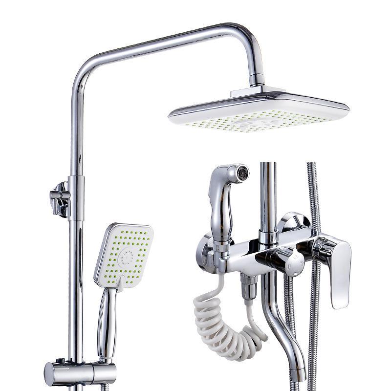 Robinet de douche mural pour salle de bain robinet de douche multifonction en laiton robinet de douche à effet pluie avec Bidet de toilette