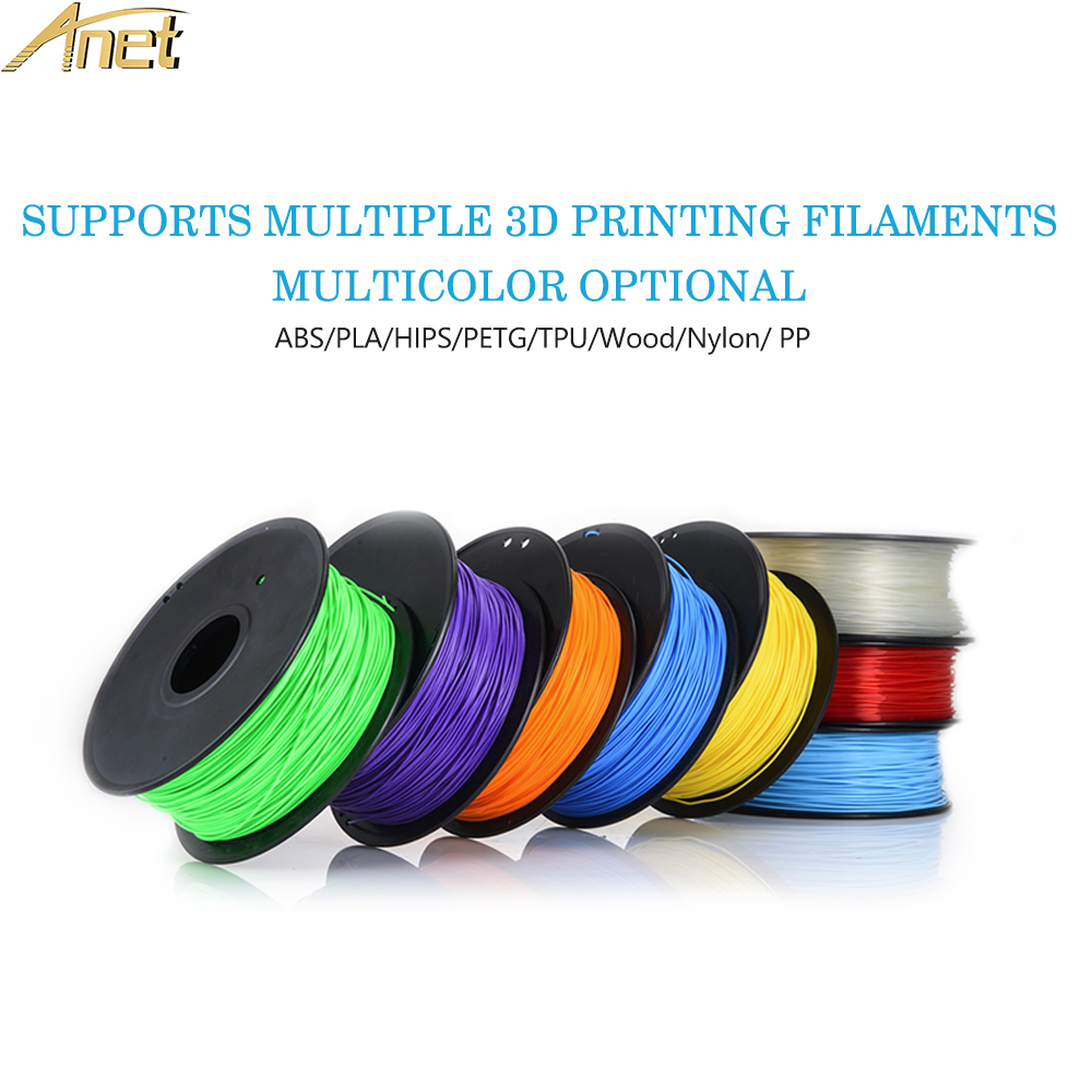 1 Carton Anet PLA Filament 3D Printer Filament 1kg/Roll 2.2lb 1.75mm for MakerBot Anet RepRap 3D Printer Pen 12 Colors Optional