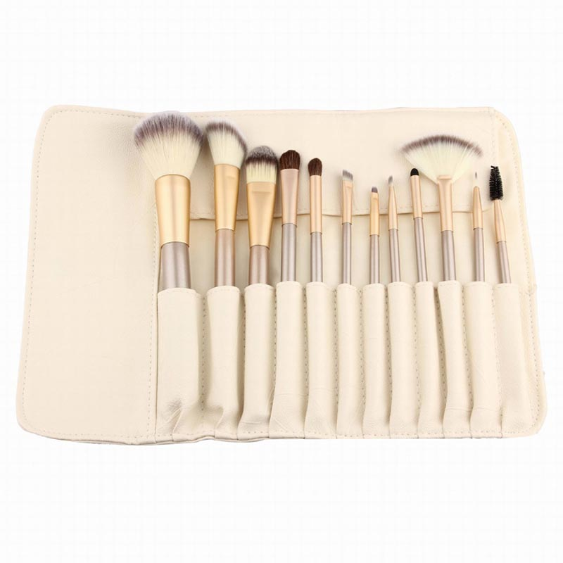 12pcs Rose gold Makeup Brushes set Foundation Eyeshadow make up brush Cosmetics with Leather Toiletry Kits Pincel Maquiagem pro 15pcs tz makeup brushes set powder foundation blush eyeshadow eyebrow face brush pincel maquiagem cosmetics kits with bag