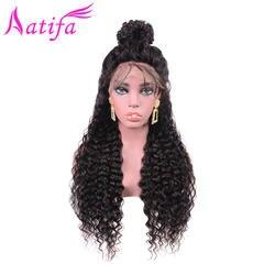 Бразильская холодная завивка волос парик Синтетические волосы на кружеве человеческих волос парики для Для женщин Волосы remy 13x4