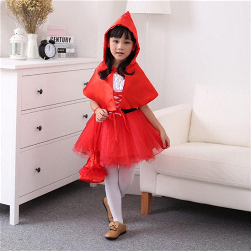 Halloween Kids Bat cosplay Wings Girl Child Cosplay Costume Red Dress Full Set Outfit Suit