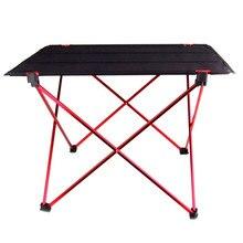 Mesa plegable portátil para acampar, pícnic al aire libre, ultraligera, de aleación de aluminio, 6061