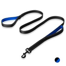 Pet Products Dog Leash Padded Traffic Two Handles Reflective Rope Pets Lead Dog-Collar Harness Nylon Running Leashes