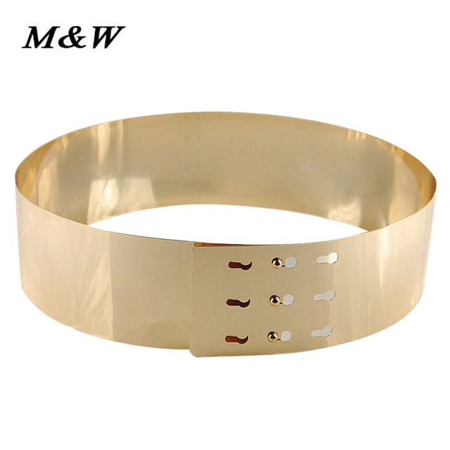 Cintos femininos 2017 Nueva gama Alta de la cintura cinturón de oro de mujer de marca señora de la correa Decorativa de Metal Lentejuelas Espejo Cinturones para mujeres