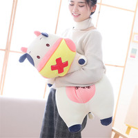 Fancytrader Big Pop Anime Milk Cow Plush Toy Soft Huge Stuffed Animals Dairy Cattle Pillow Doll Cushion 90cm/70cm