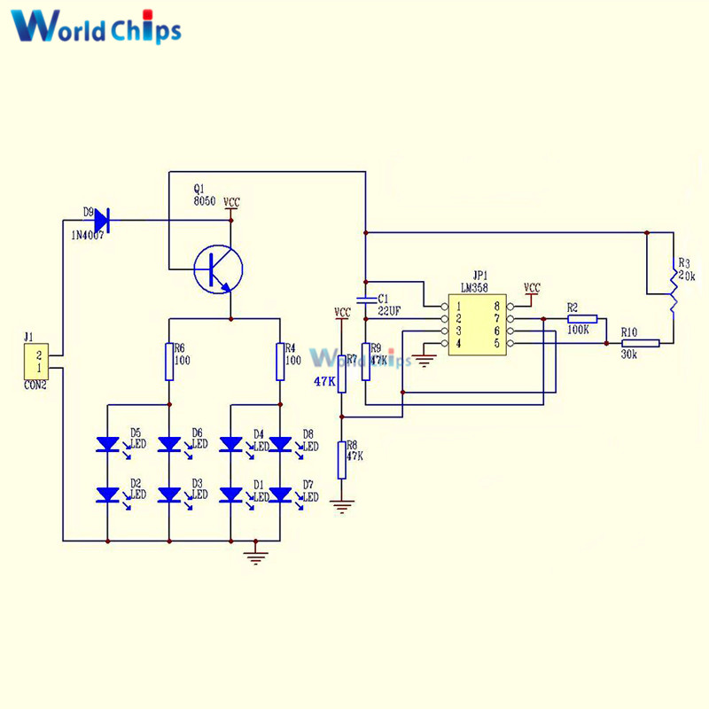 10PCS Simple Flash Circuit DIY Kits Electronic Suite Electronic Production Best