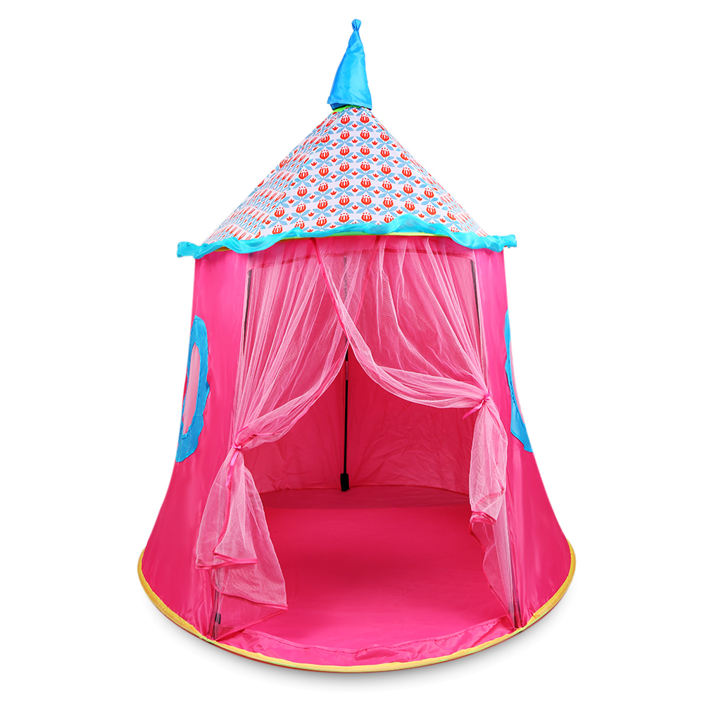 Foldable Play Tent Folding Cubby Play House Toy Tent Princess Castle Play Toy Tents House Outdoor Indoor Garden Sports Playhouse outdoor puzzle folding mongolia bag game house tents