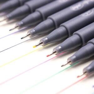 Image 5 - Jonvon Satone 50pcs(5lot) Fineliner Drawing Pen Cartoon Design Water Color Pens Stationery Office School Supplies For Wholesale