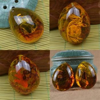 1 Uds. Incluye insectos naturales de moda ámbar colgante de piedras preciosas bálticas DIY ornamento artesanía regalo Decoración Para suéter