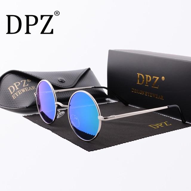 884b6a4f44 2018 Steampunk Round Sunglasses Men Women Anti-UV Polarized Metal Frame hot  rayeds Retro Sun