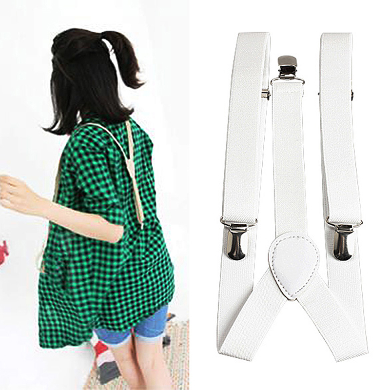 Superior Overall Suspenders For Adult Child Adjustable 70-700cm Brace Clip Y Back Neon Clip-on Elastic Band Unisex Suspender