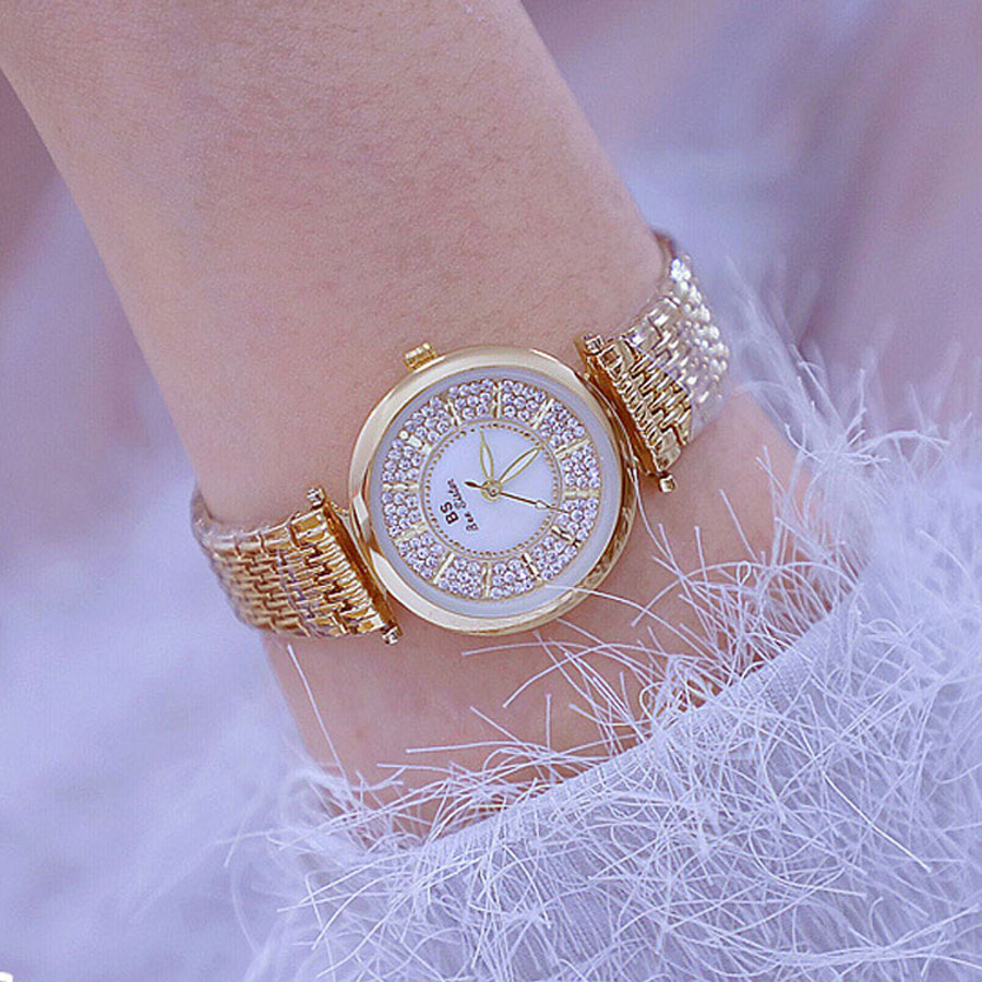 Fashion 2018 New Gold Watch Women Ladies Watch Quartz High Quality Small Women Watches Top Brand Luxury Women Dress Watches BS