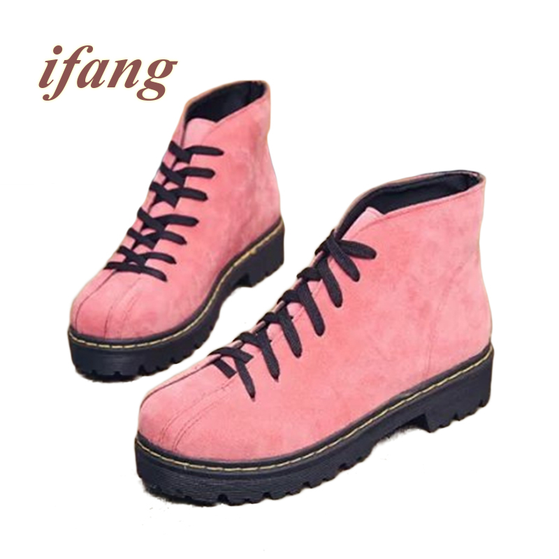 ifang Ankle boots Women Martin Winter Boots Snow boots Women font b Shoes b font Woman