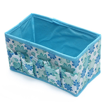 Fashion Folding Multifunction Make Up Cosmetic Storage Box Container Bag – Blue