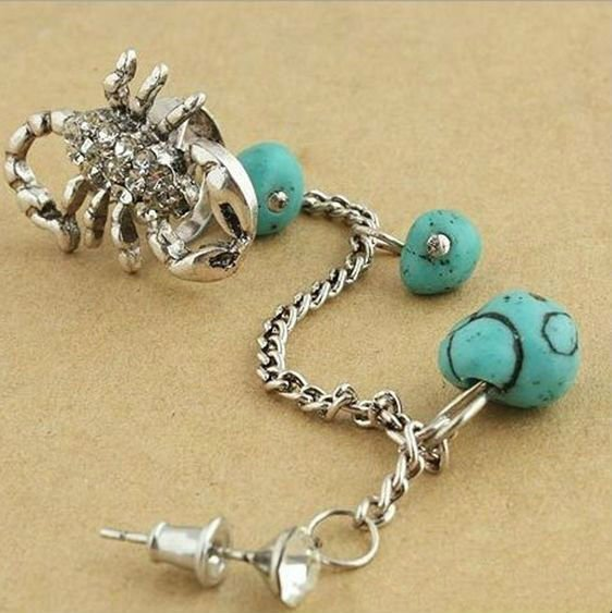 fashion Scorpion earrings muslim women accessories Wholesale free shipping