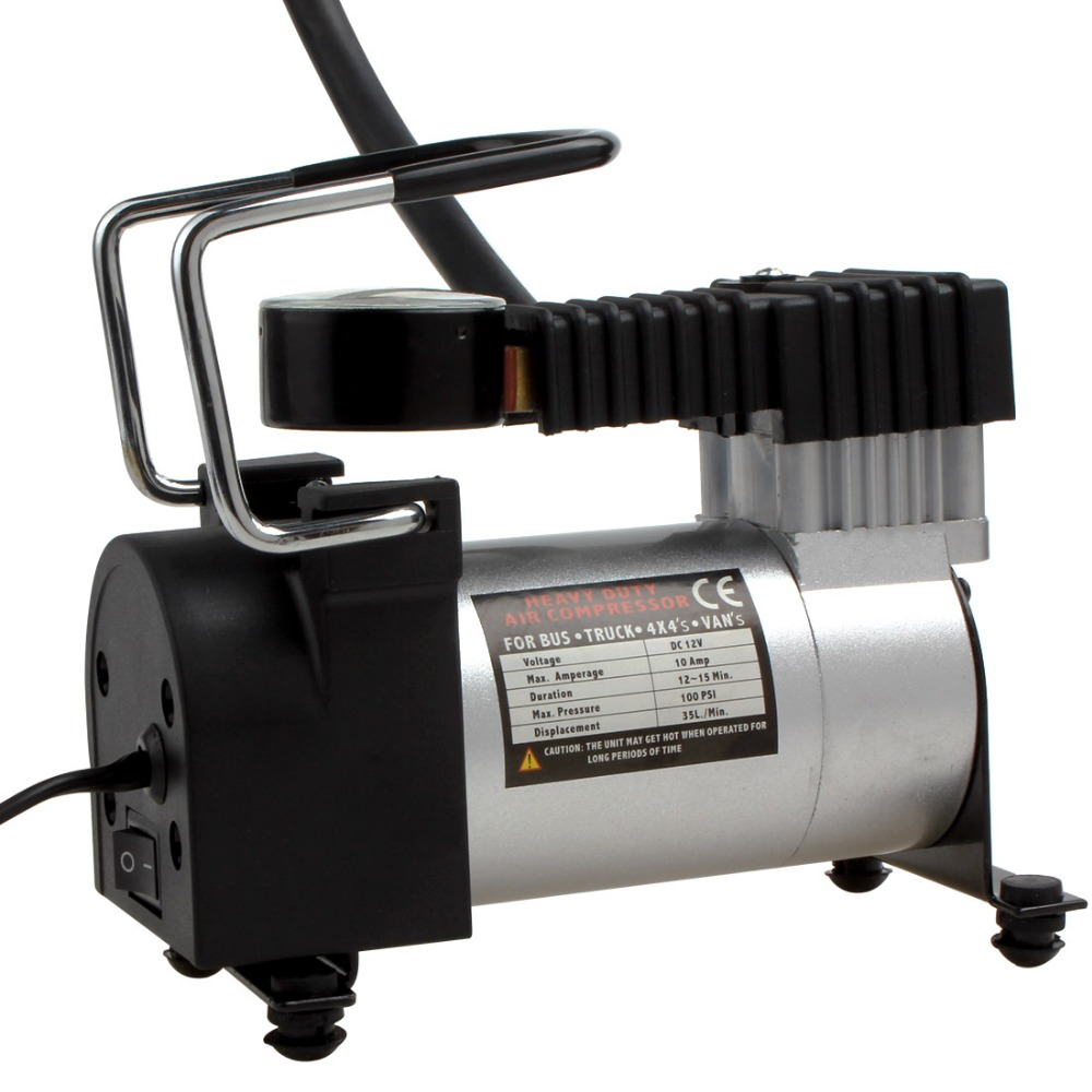 HEAVY-DUTY-PORTABLE-12V-ELECTRIC-CAR TYRE INFLATOR 799 KPa AIR COMPRESSOR PUMP