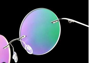 946f67a46c Eyesilove retro mujeres sin montura de aleación de titanio miopía gafas  lentes miopes gafas graduadas-0,50-6,00