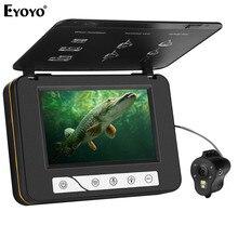 """Eyoyo 15 M 1000TVL EF15R Original Câmera Subaquática da Pesca do Gelo 5 """"Monitor LCD 4 pcs Infravermelho + 2 pcs branco Leds Night Vision Camera"""