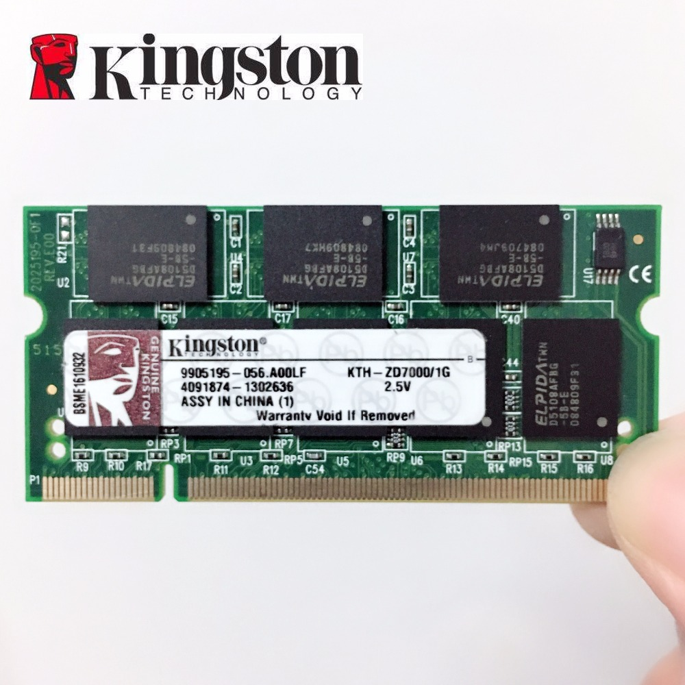 Original Kingston notebook DDR ddr1 1 gb 1 gb 333 mhz pc-2700 pc-2700s 1g speicher laptop RAM 200pin sodimm 333 mhz PC 2700 s