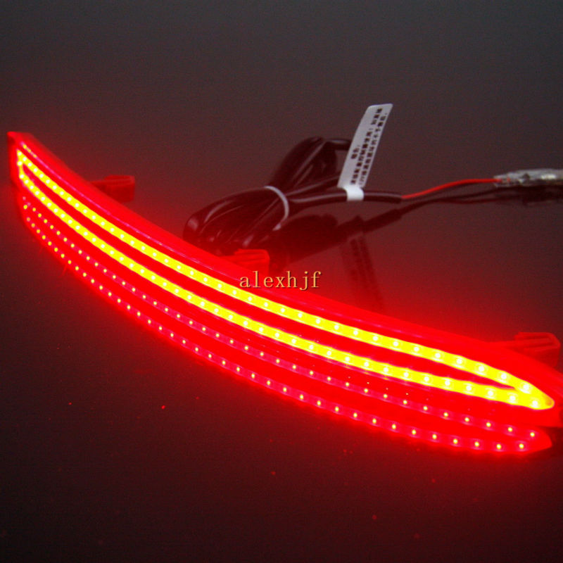 купить Varthion LED Light Guide Brake Lights Case for Volkswagen Tiguan 5N 2008~15, Brake + Turn Signal + Night Running Warning Lights дешево