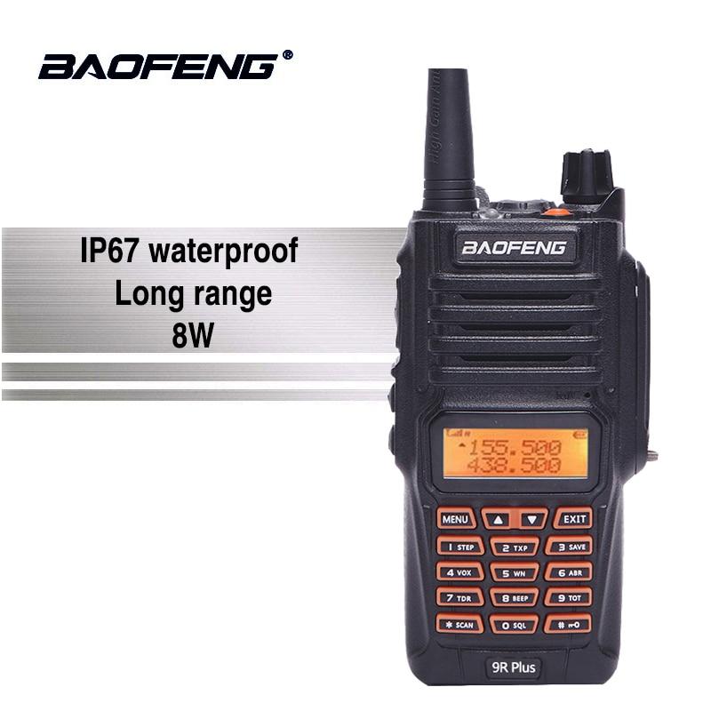 Baofeng UV-9R плюс 8 Вт высокое Мощность IP67 Водонепроницаемый Walkie Talkie 10 км ручной УФ 9R двухстороннее радио Ham CB радио Communicador UV9R