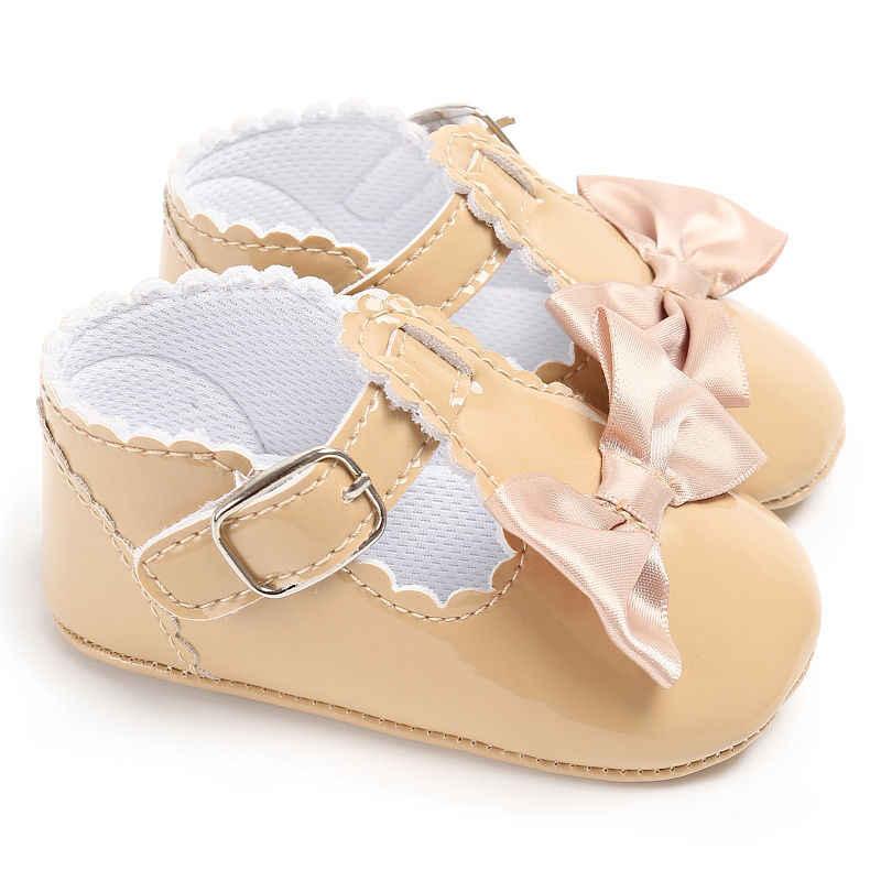 น่ารักน่ารักน่ารักเด็กวัยหัดเดินรองเท้าเด็ก Bowknot Soft Sole รองเท้าเจ้าหญิง Antiskid เด็กผู้หญิง Joli หนังรองเท้าผ้าใบ